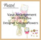 Pastel Arrangement with Lollipop