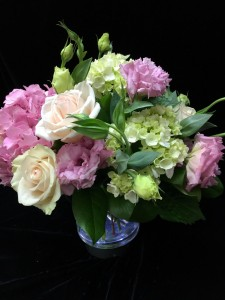 Pastel Blooms Vase arrangement