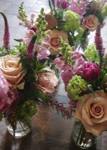 Botany Boho Pastel Mason Jar Arrangement