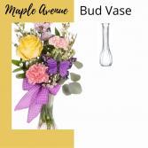 Bud Vase-Pastel Flowers