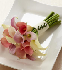 Pastel Calla Lily Bridal Bouquet Wedding Flowers