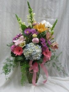 Pastel Celebrations vase arrangement