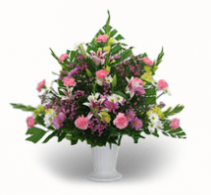 Pastel Color Fresh Flower Urn