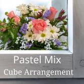 Cube-Pastel Flowers