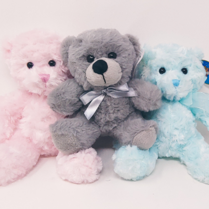 Pastel  Cuddly Plush Bear