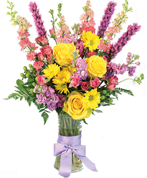 Pastel Delight Bouquet in Jacksboro, TX | Woodshed Works Gifts & Flowers