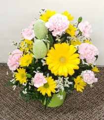 Sunny Fun Easter  Fresh Floral Arrangement