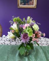 Pastel elegance vase arrangement