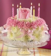 PASTEL FLOWER CAKE Birthday