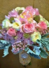 PASTEL FLOWERS Wedding Bridal Bouquet