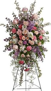 Pastel Funeral Spray  in Yonkers, NY | YONKERS FLORIST- BELLA'S FLOWER SHOP