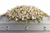 Pastel Garden Casket Spray  Funeral Casket Spray
