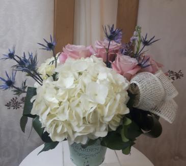 Pastel Garden Floral Arrangement