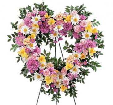 Pastel heart wreath Wreath