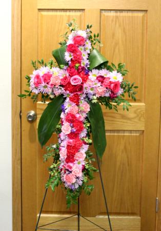 Pastel Inspirational fresh floral easel