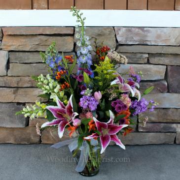 Pastel Paradise Garden Vase Classic Flower Arrangement
