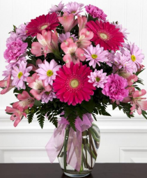 Pastel perfection vase arrangement