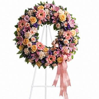 Pastel Perfection Wreath/Standing Spray