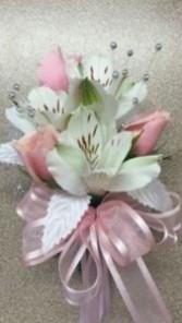 Pastel pink Corsage