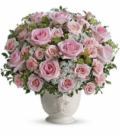 Pastel Pink Roses, Garden style