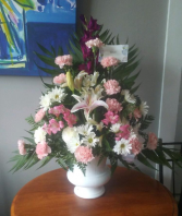 Pastel Pink Traditional Sympathy