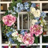 Pastel Posies Silk Floral Wreath