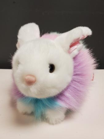 "Pastel Rainbow Bunny 14"" Plush(Only one left)"