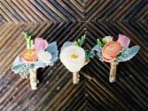 Pastel Ranunculus Boutonniere choose your colors