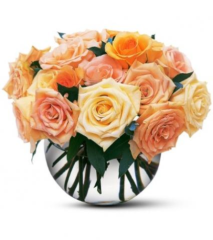 Pastel Rose Bubble Bowl Floral Arrangement In Lauderhill Fl A Royal Bloom Flowers Gifts