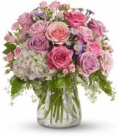 Pastel Rose Garden  Vase Arrangement
