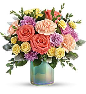 Pastel Shimmer Bouquet T19E305 vase arrangement