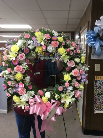 Pastel Splendor Standing Wreath