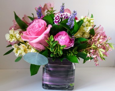 Pastel Summer Vase Arrangement