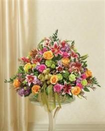 Pastel Sympathy Basket Funeral