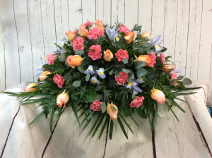 Pastel Tribute Casket Spray  Casket Spray in Culpeper, VA | ENDLESS CREATIONS FLOWERS AND GIFTS