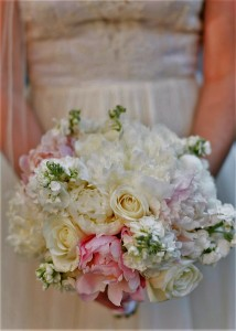 Pastel with pink peonies Bridal bouquet