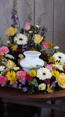 Pastel wreath for urn