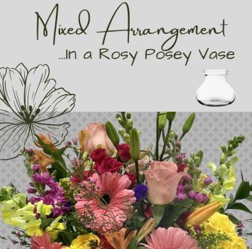 Premium Vase-Pastel Flowers