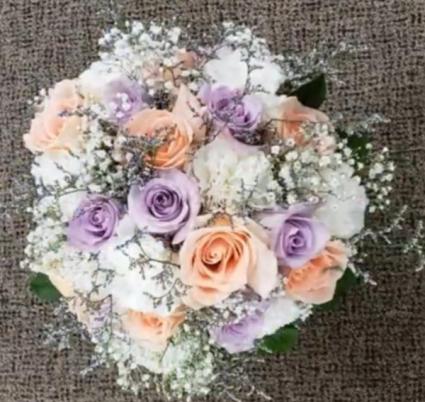 Pastels Pop Wedding Bouquet