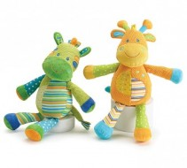 Patchwork Giraffes Plush