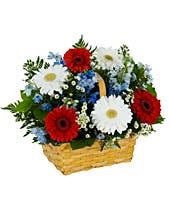 Patriot Basket Floral Arrangement in Lexington, NC   RAE'S NORTH POINT FLORIST INC.