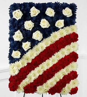 Patriot Flag Floral Arrangement in Lexington, NC   RAE'S NORTH POINT FLORIST INC.