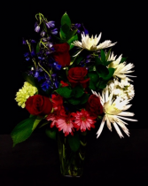 Patriot Red, White & Blue Floral Design
