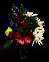 Patriot Red, White & Blue Floral Design