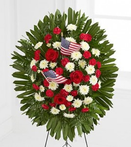 Patriot Sympathy Spray  in Fair Lawn, NJ | DIETCH'S FLORIST