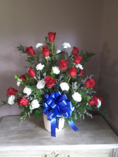 Patriot tribute Funeral flowers