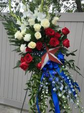 Patriot Tribute - Standing Spray Sympathy