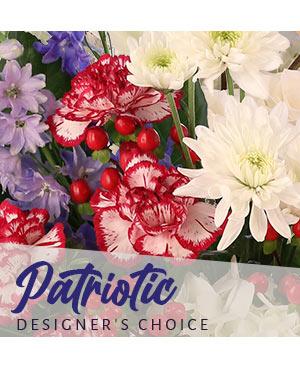 Patriotic Arrangement Designer's Choice in Oxford, OH | OXFORD FLOWER SHOP