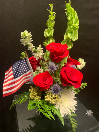 Patriotic Arrangement Fresh Flower