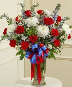 Patriotic arrangement Vased in Tampa, FL | MILLY'S FLOWERS